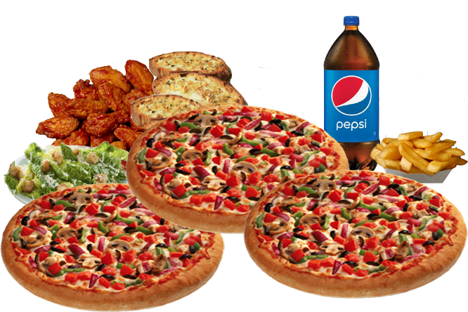 3 SMALL PIZZAS - $28.99
